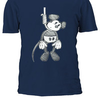 Suicide Mouse Mickey Hanging Disney Men Women Ladies Tshirt T-shirt Unisex 1771
