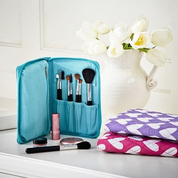 Quilted Sleepover Makeup Case, Hearts