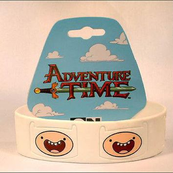 Adventure Time Finn Jake Cosplay White Rubber Bracelet Wristband Strap LICENSED