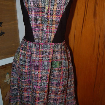 Woman's Dress Junior Dress Plaid Hearts Skater dress/ A-line dress/ Plaid skater dress/ Plaid dress/ Short dress overalls Fall