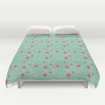 Elsa Frozen Fever Cape pattern Duvet Cover by Studiomarshallarts