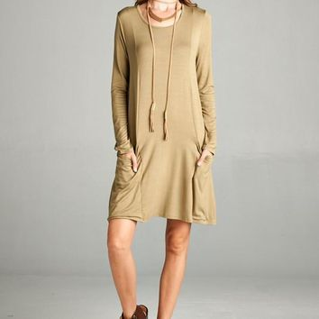Loose Fit 3/4 Sleeve Dress