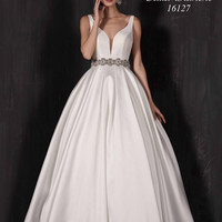 Paulette by Calla Blanche 16127 Low Back Ball Gown Wedding Dress