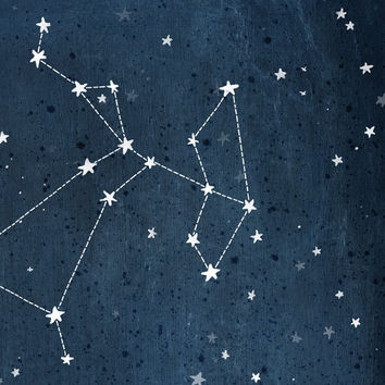 Personalized Zodiac Constellation print - 13 x 19 - Twelve Astrological signs available