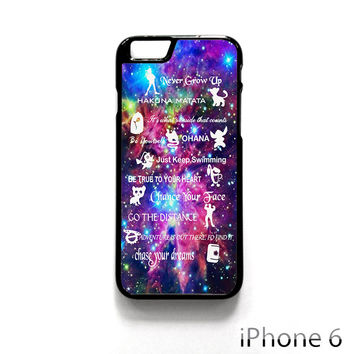 Disney Lesson Learned Mash Up Galaxy for Iphone 4/4S Iphone 5/5S/5C Iphone 6/6S/6S Plus/6 Plus Phone case