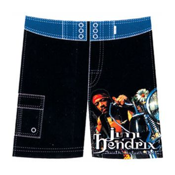 Jimi Hendrix Men's  Board Shorts Black