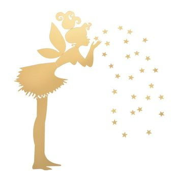 Angel Magic Fairy & Stars 3D Mirror Wall Sticker Kids Bedroom Decoration Gift WD xianmokew