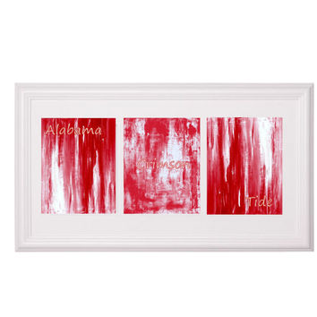 Alabama Abstract PRINTS (3) 8x10 Modern Abstract Art Prints by Becky Wilkinson Contemporary Art Wall Art Red Home Decor Valentine's Day