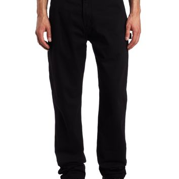 Carhartt Men's Relaxed-Fit Washed Twill Dungaree Pant Black 33W x 34L