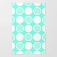 Mint Circles Rug by Beautiful Homes