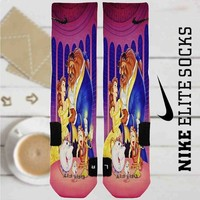 Disney Beauty and The Beast Custom Nike Elite Socks
