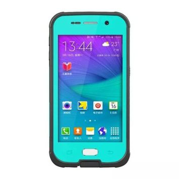 S6 Waterproof Case,Galaxy S6 Waterproof Case,3C-Aone 6.6 ft Underwater Waterproof Shockproof SnowProof DirtProof Durable Full Sealed Protection Case Kickstand Cover for Samsung Galaxy S6 (Teal)