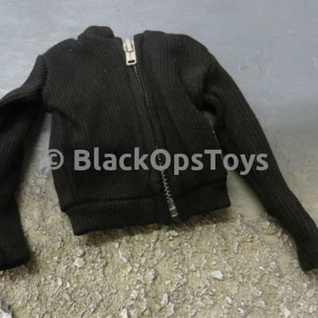 LOADING TOYS Black Zip Up Sweater
