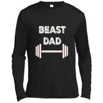 Beast Dad Lift Workout Gym Athlete Barbell Fathers Day Shirt