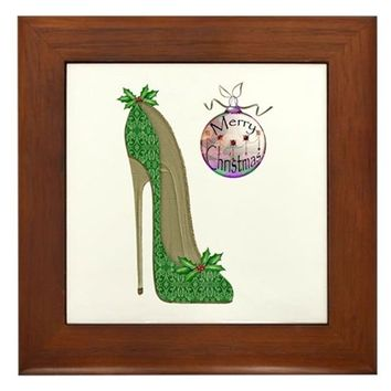 CHRISTMAS STILETTO FRAMED TILE