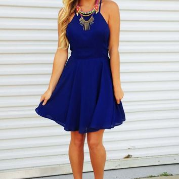 Never Let You Down Dress: Royal Blue