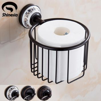 Oil Rubbed Bronze Bathroom Toilet Paper Holder Roll Towel Bar Holder Wall Mounted