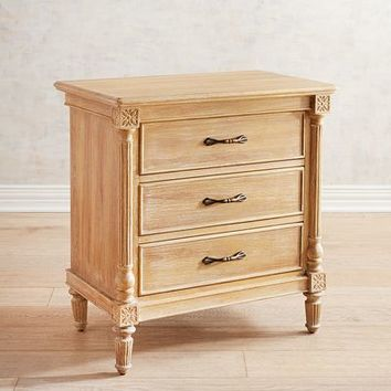 Eliane Natural Stonewash Bedside Chest