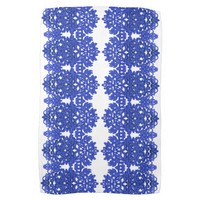 Openwork pattern in the style blue-chinoiserie towel
