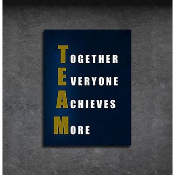 TEAM Together Everyone Achieves More Motivational Framed Wall Art
