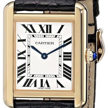 Cartier Women's W5200004 Tank Solo 18kt Yellow Gold Case Watch