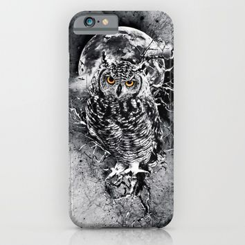 OWL BW iPhone & iPod Case by RIZA PEKER