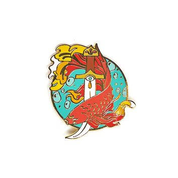Fish & Dagger Pin
