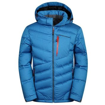 Fashion Mens Down Jacket Men's Brand Clothing Casual 90% White Duck Down Coat Winter Jackets Mens Thick Outerwear Coats