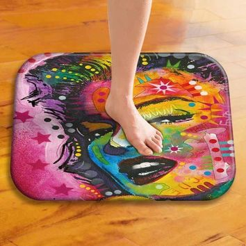 Autumn Fall welcome door mat doormat 40x60cm 3D Colorful Marilyn Monroe Flannel Welcome Carpet  Bath Mat Bathroom Kitchen Rugs Mats for Home Decoration AT_76_7