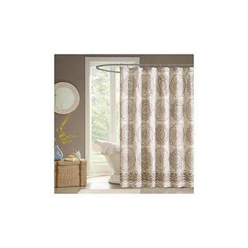 Madison Park Home Essence Menara Shower Curtain 72Inx72in Taupe