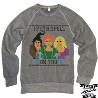 I Put a Spell On You Halloween Unisex Sweatshirt. Hocus Pocus Eco-Fleece Shirt.