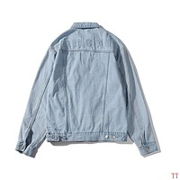 Balenciaga Lover Casual Denim Cardigan Jacket Coat