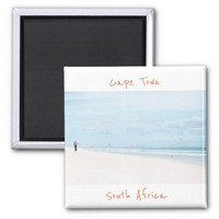 Cape Town South Africa Ocean Beach Magnet