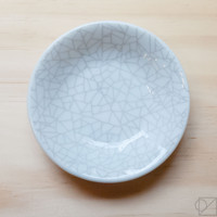 Soft Crackle Ceramic Dish