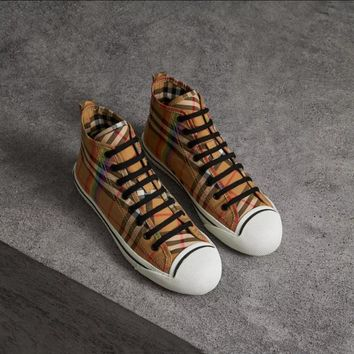 Burberry Rainbow Vintage Check Sneakers #424