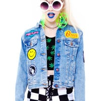 PRE-ORDER: CUSTOM Vintage Renewed Denim Jacket with Your Choice in Patches!
