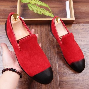 Italy Luxury Men Loafers Men's Casual Flats Shoes