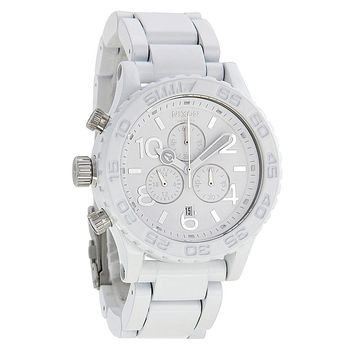 Nixon 42-20 Chronograph White and Silver Mens Watch A0371255