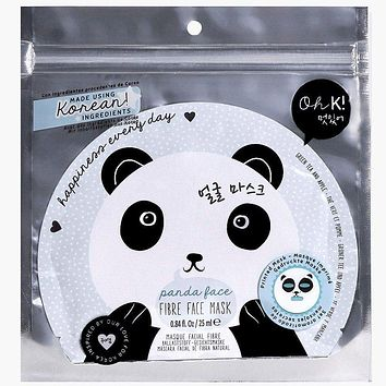 Oh K! Panda Face Fibre Face Mask - Set of 3