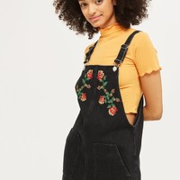 MOTO Tapestry Denim Pinafore Dress | Topshop