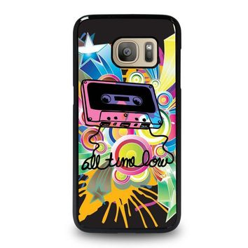 all time low retro cassete samsung galaxy s7 case cover  number 1
