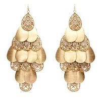Layered Filigree Teardrop Earrings: Charlotte Russe