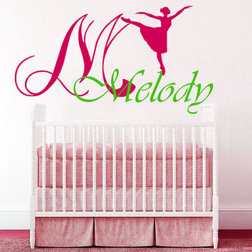 Wall Decals Vinyl Decal Sticker Ballerina Dance Melody Art Design Nursery Room Bedroom Nice Picture Decor Hall Wall NA213