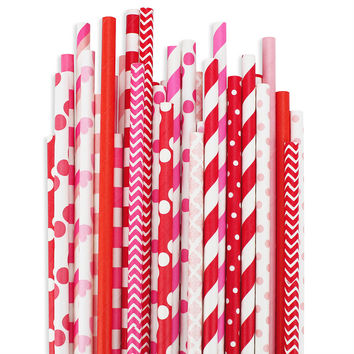 Valentine Paper Straw Assortment