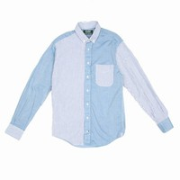 GITMAN BROTHERS X OPENING CEREMONY PATCHWORK LONG-SLEEVE SHIRT - MEN - GITMAN BROTHERS X OPENING CEREMONY