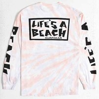 Life's A Beach Tie-Dye Long-Sleeve Tee