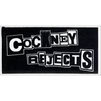 Cockney Rejects Men's Logo Cloth Patch Black