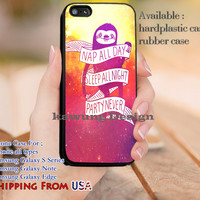 Nap All Day Sloth Nebule Quotes iPhone 6s 6 6s+ 5c 5s Cases Samsung Galaxy s5 s6 Edge+ NOTE 5 4 3 #quote dl11