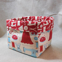 Fabric Basket Made With Sewing Inspired Fabric