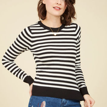 Classic Attraction Striped Sweater | Mod Retro Vintage Sweaters | ModCloth.com